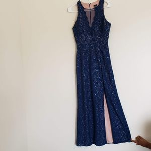 NightWay Navy Long Dress